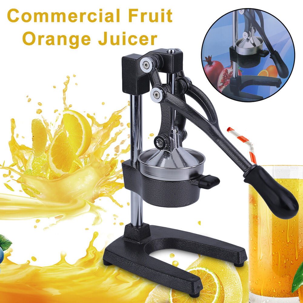orange lemon hand press commercial manual citrus fruit juicer juice squeezer ew ebay. Black Bedroom Furniture Sets. Home Design Ideas