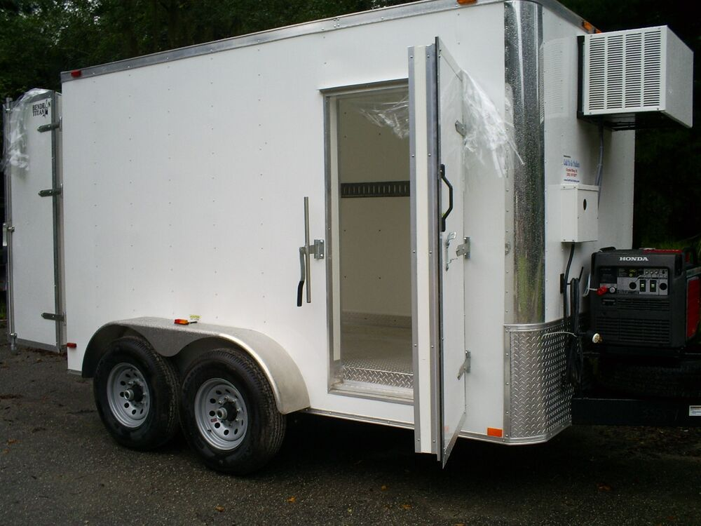 Refrigerated Walk In Cooler Freezer Trailers Custom Ebay