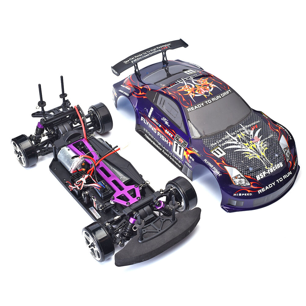 Rc Drift Car HSP High Speed 94123 4wd 1/10 Electric Flying