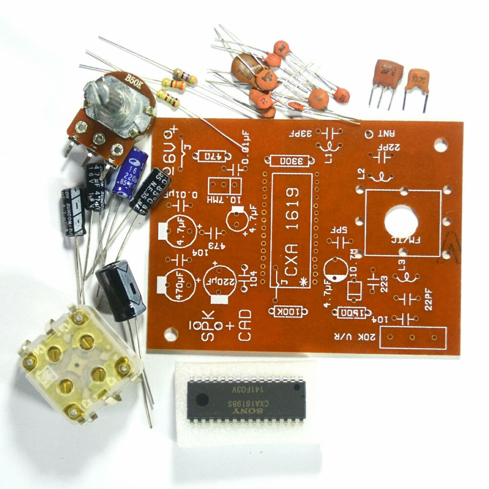 Student Project Easy FM Radio    Circuit    Kit 88108MHz with