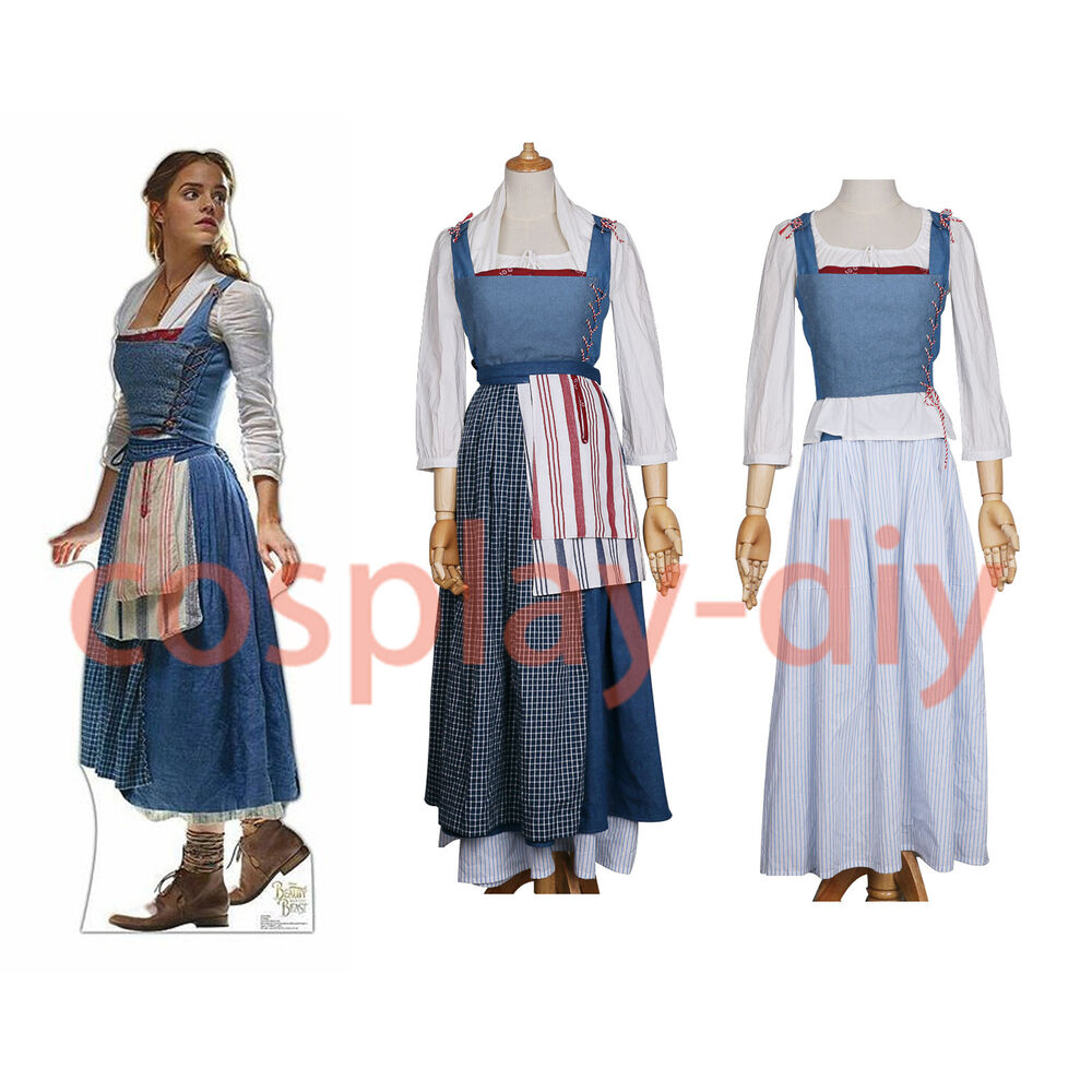 2017 beauty and the beast princess belle maid costume