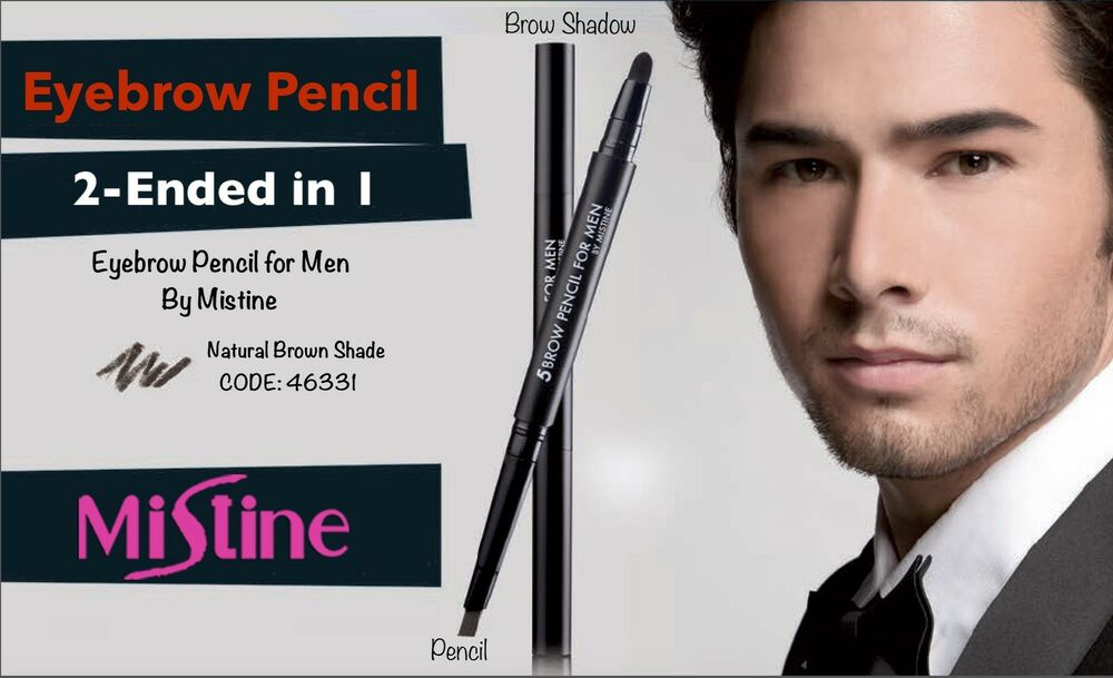 Mistine 5 Brow Pencil For Men Women Natural Long Lasting Eyebrows