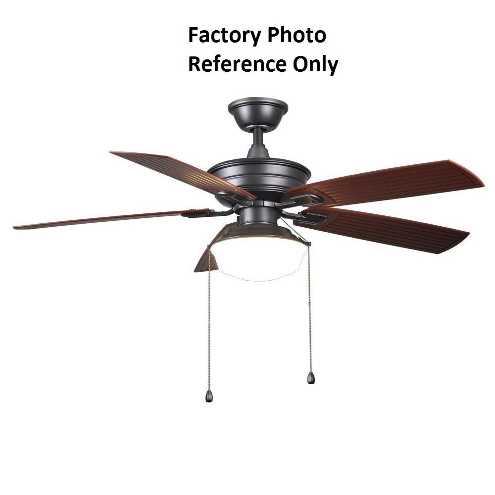 Home Decorators Collection Led 52 In Indoor Outdoor Natural Iron Ceiling Fan Ebay