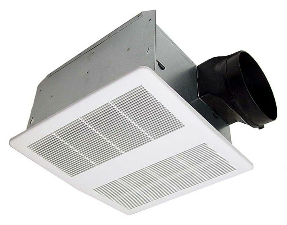 Kaze se110t quiet bathroom exhaust ventilation bath fan 110 cfm 0 9 sones ebay for Residential exhaust fans for bathrooms