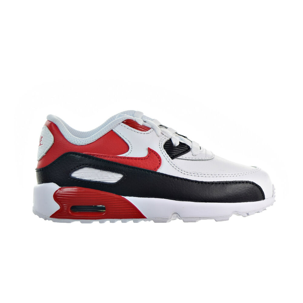 9c60d6b9ae0 Details about Nike Air Max 90 LTR (TD) Toddler Shoes White University Red Black  833416-107