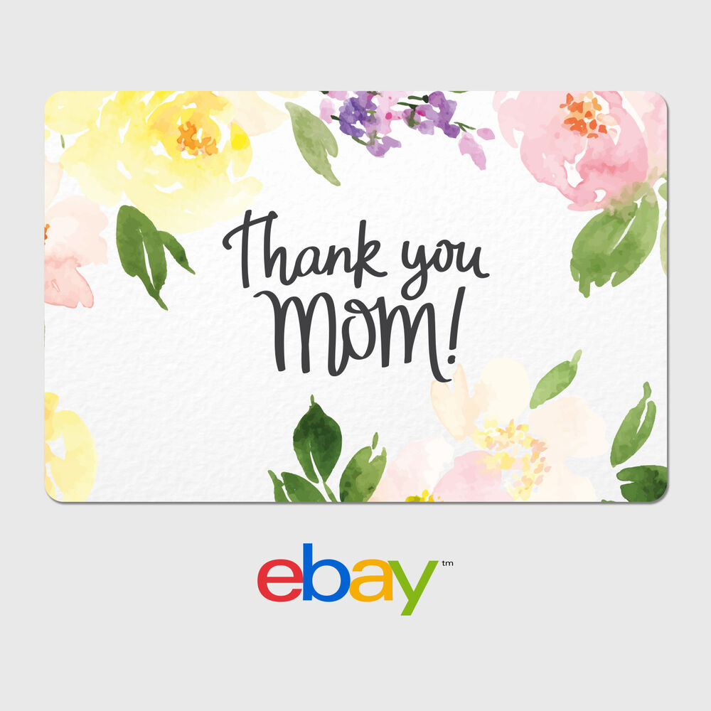 Ebay Digital Gift Card: Happy Mother's Day Thank You Mom