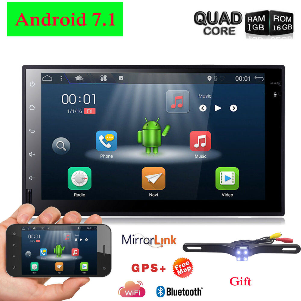 Quad core android 7 1 4g wifi 7 double 2din car radio for Ebay motors app for android