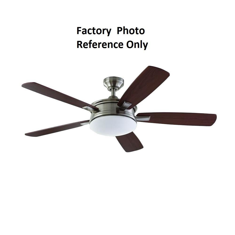 home decorators collection ceiling fan home decorators collection daylesford 52 in led brushed 28526