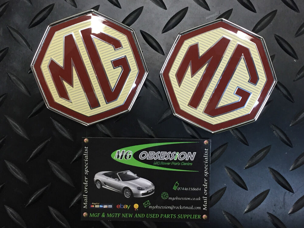 MG TF FRONT BUMPER AND BOOT LID BADGE SET. GENUINE MG PRODUCT ...