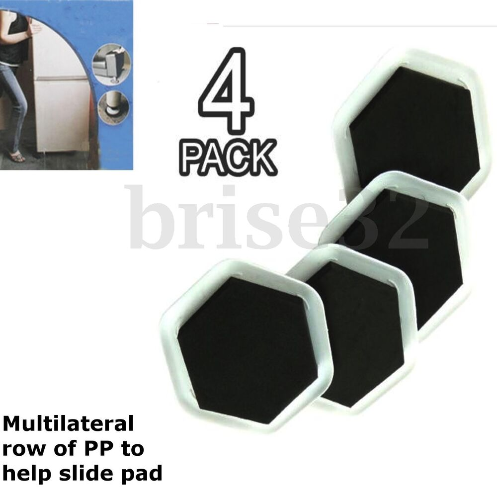 4 Heavy Duty Furniture Moving Sliders Pad Protectors