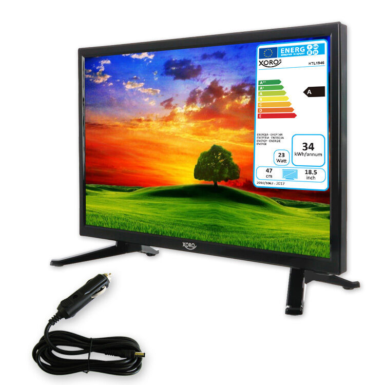 camping tv 18 5 zoll fernseher hd mit sat receiver hd triple tuner dvb s2 ebay. Black Bedroom Furniture Sets. Home Design Ideas