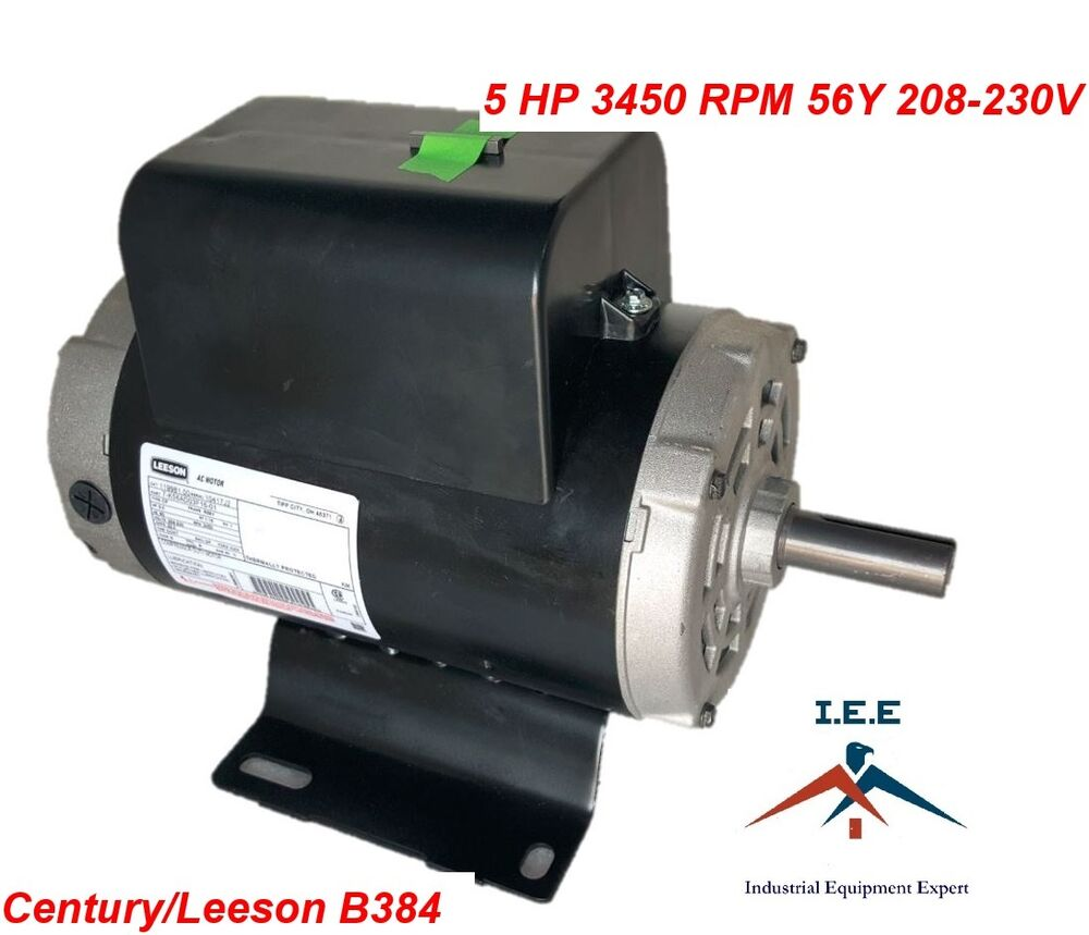 5hp 3450 rpm air compressor electric motor 208 230 volts for 5hp air compressor motor single phase