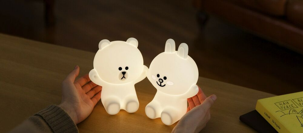 Line Friends Hug Me Led Touch Lamp Character Brown Cony