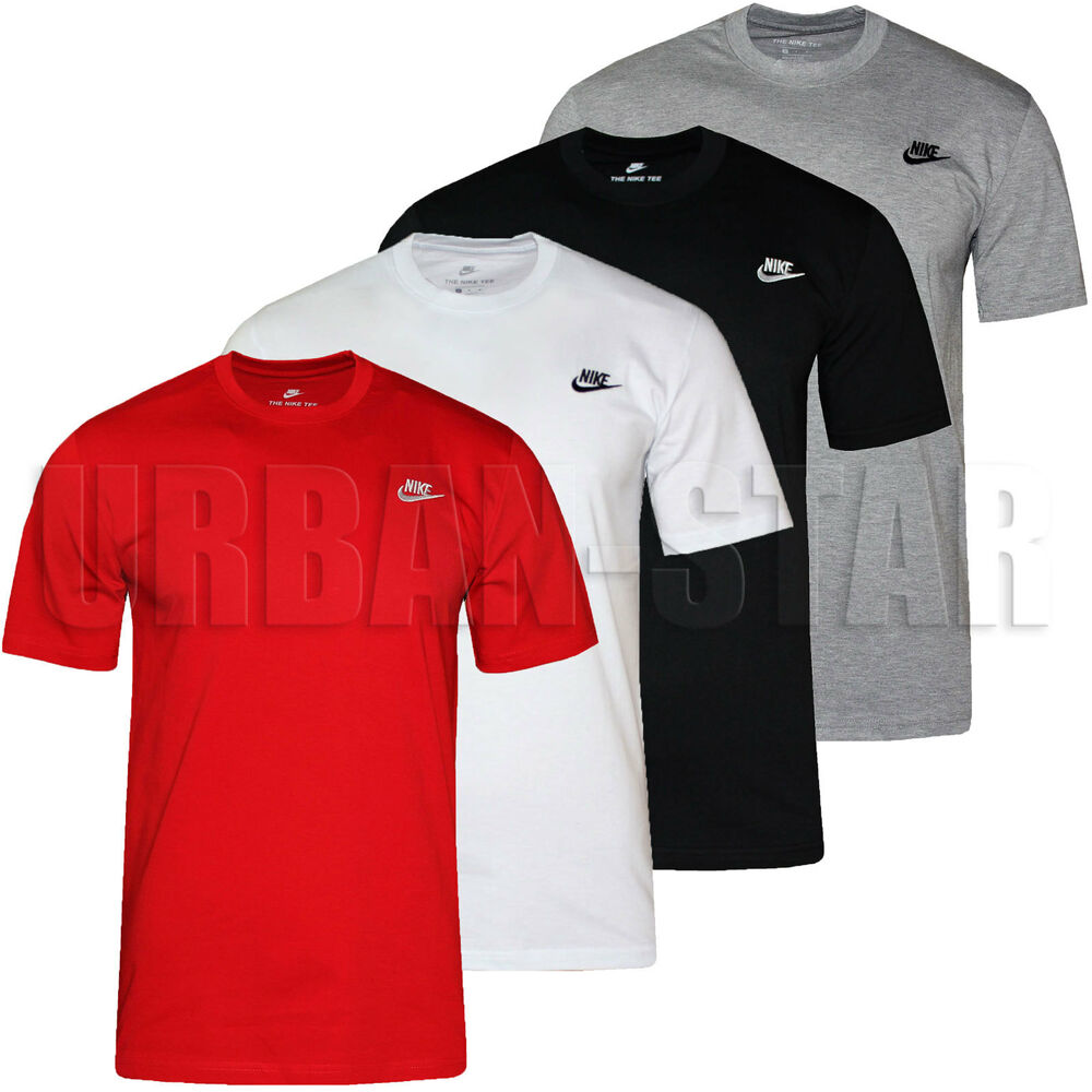 new men 39 s nike gym sports t shirt retro nike logo top crew. Black Bedroom Furniture Sets. Home Design Ideas