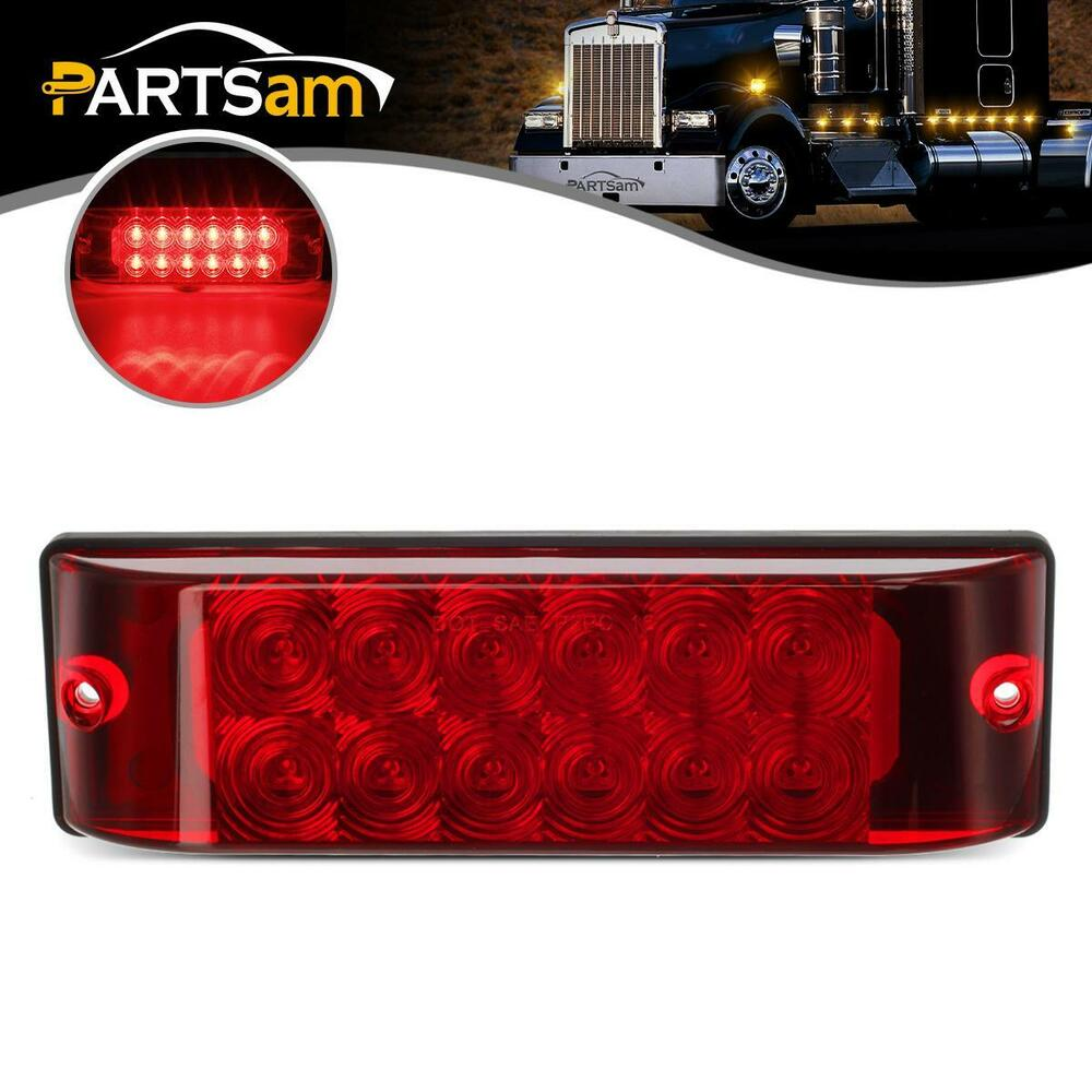 Universal 8 Quot X2 5 Quot Red 12 Led Stop Turn Tail Brake Light