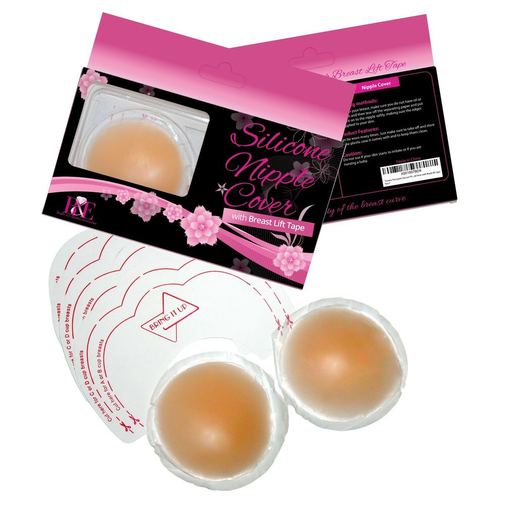f8f7edf67 Details about Pasties Reusable Silicone Nipple Covers. Breast Petal Pads with  Boob lift tape