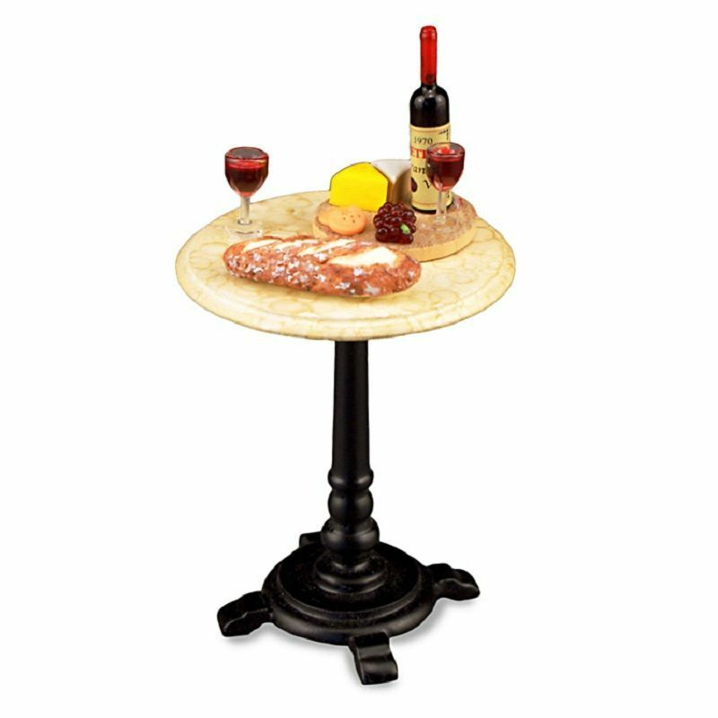 Dollhouse Miniature Wine Time Bistro Cafe Table By Reutter