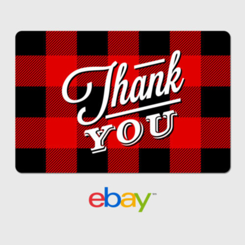 eBay Digital Gift Card - Thank You - Flannel -  Email Delivery