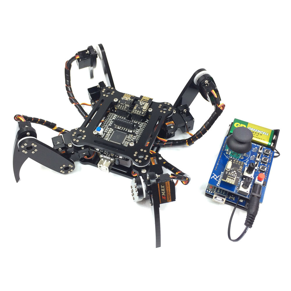 Quadruped arduino robot kit g wireless rc pc android