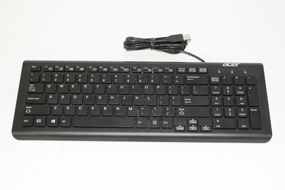genuine acer usb wired keyboard black om 130006a k ebay. Black Bedroom Furniture Sets. Home Design Ideas