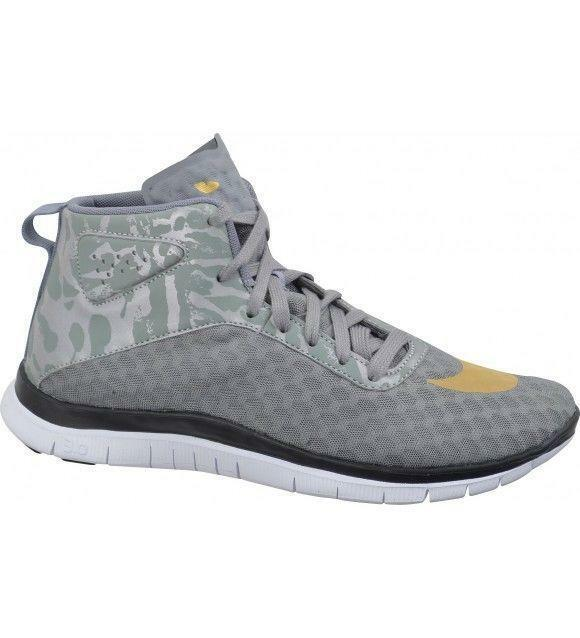 size 40 14ca6 21dae Details about Mens Nike FREE HYPERVENOM MID FC Grey Textile Trainers  725128001