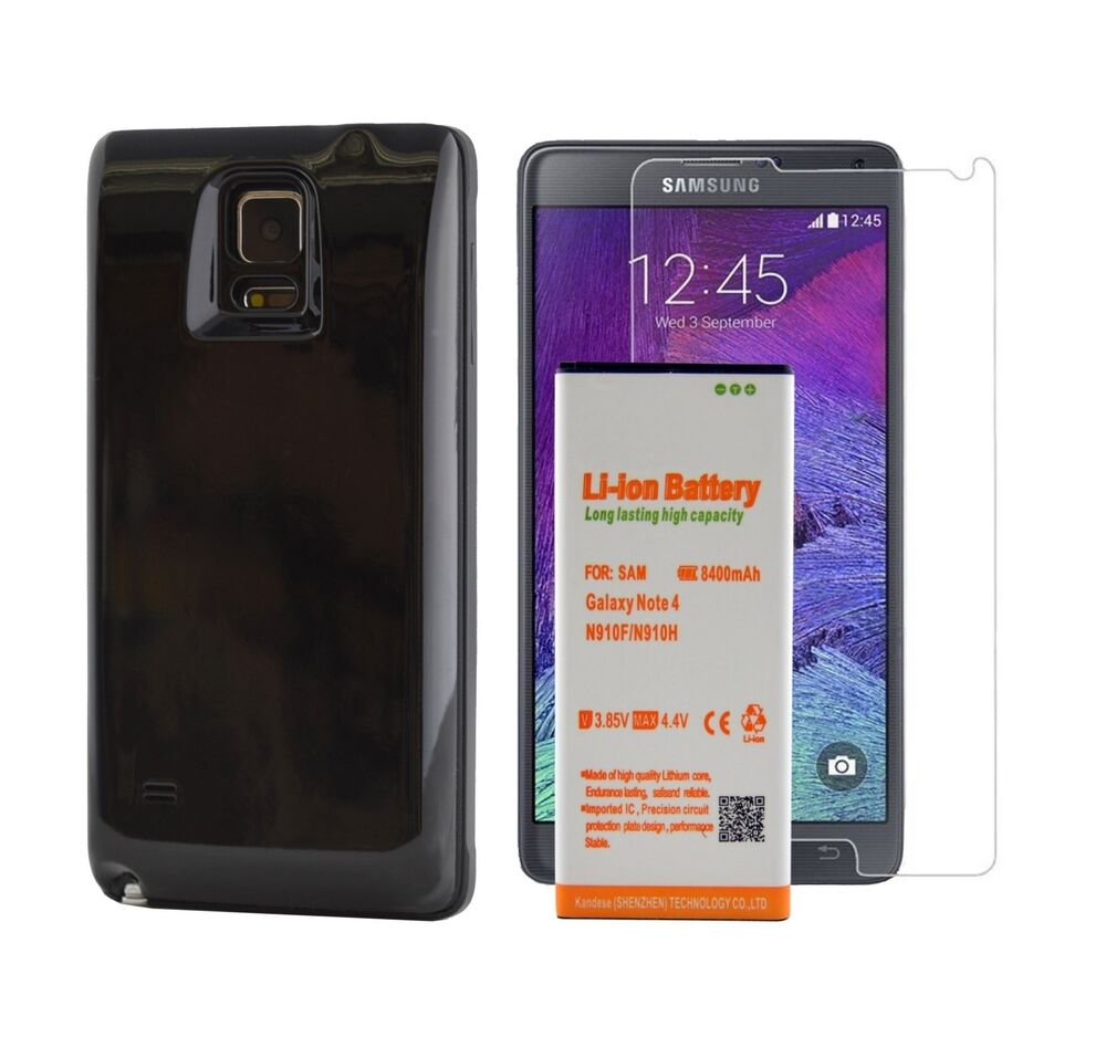 Samsung Galaxy Note 4 Extended Battery 8400 mAH Power Pack ...