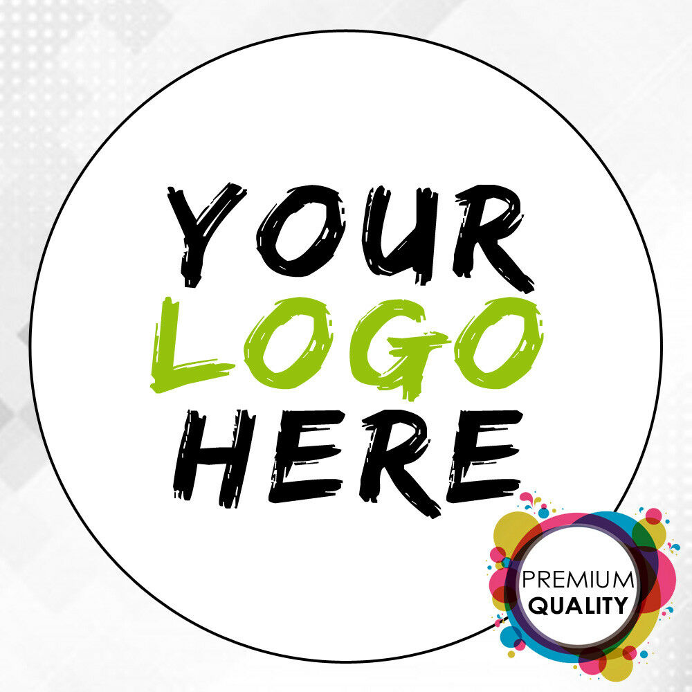 Details about logo printed round stickers custom logo labels postage labels personalised