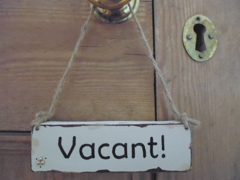 Shabby Chic Wooden Vintage Style Vacant Engaged Bathroom Toilet Door Sign Plaque Ebay