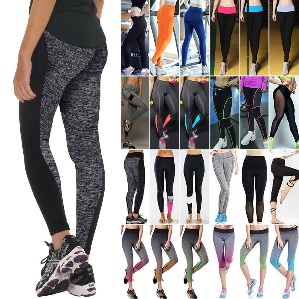 Damen leggings leggins jogging sport fitness yoga hose for Ministerialzulage bund hohe