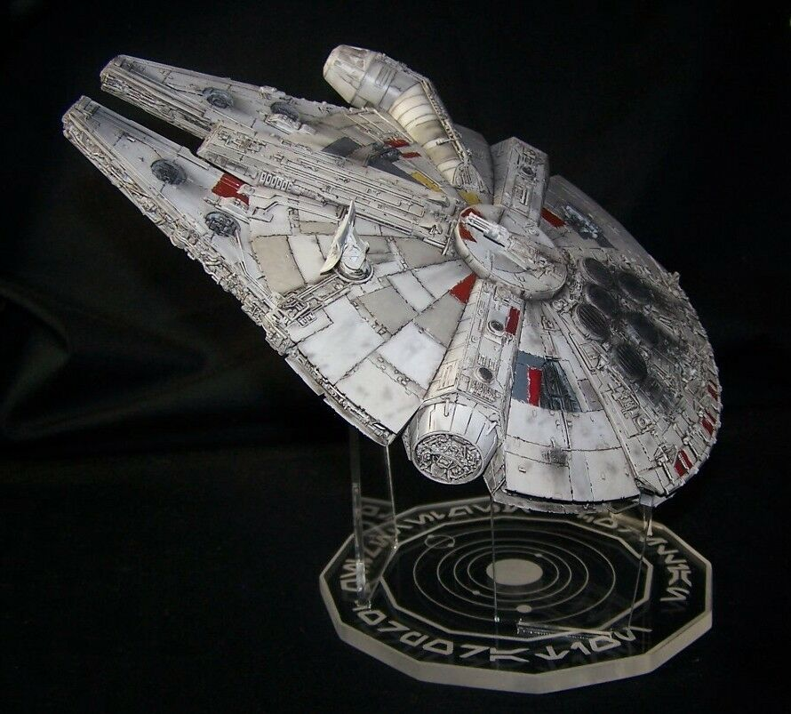 acrylic display stand for 1 144 millennium falcon bandai or fine molds ebay. Black Bedroom Furniture Sets. Home Design Ideas