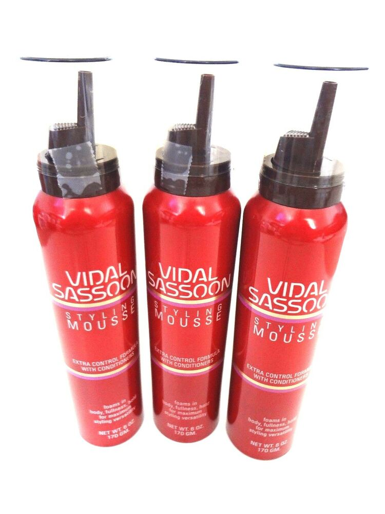 3 Vidal Sassoon Extra Control Hold Mousse 6 Oz Each Ebay