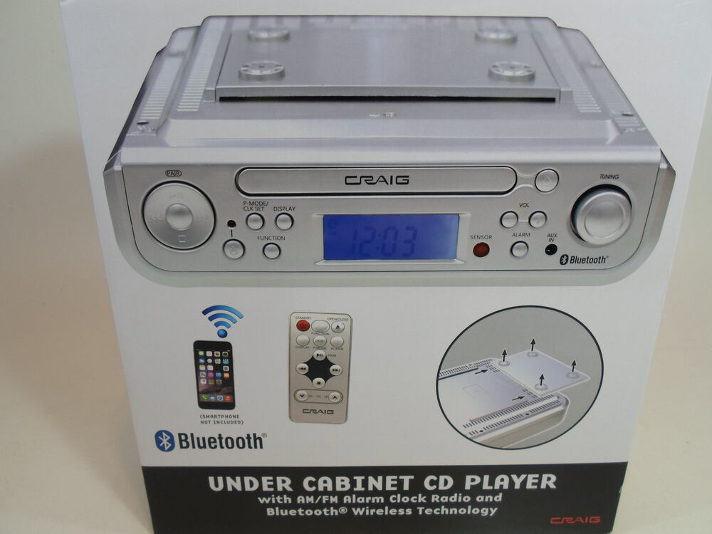 craig under cabinet cd player am fm radio alarm clock. Black Bedroom Furniture Sets. Home Design Ideas