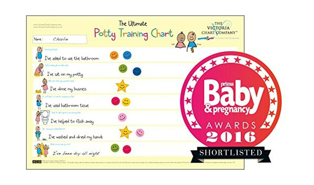 Details About Potty Training Sticker Chart From 2yrs Ultimate Train Free Shipping