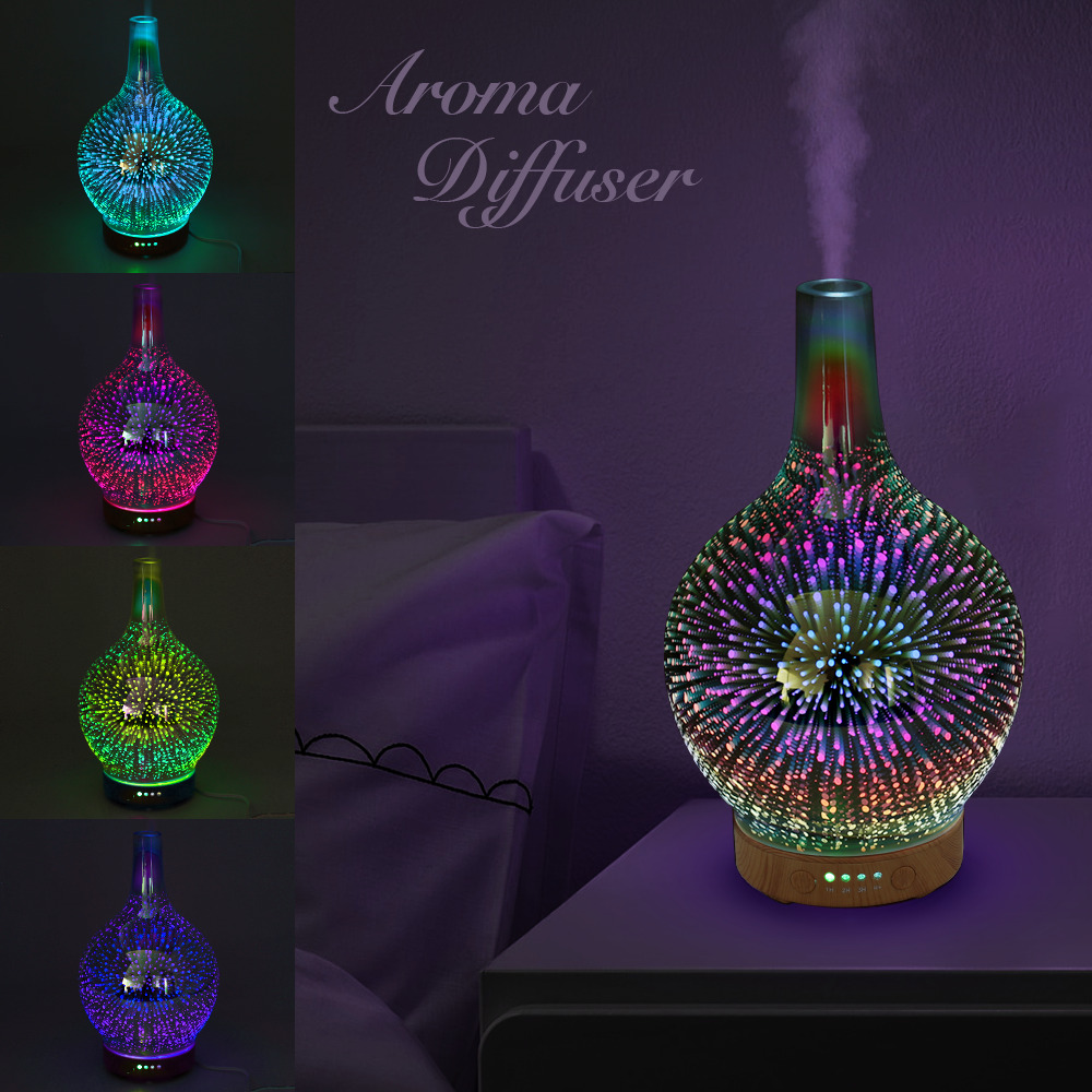 Led Light Ultrasonic Aroma Diffuser Essential Oil Mist