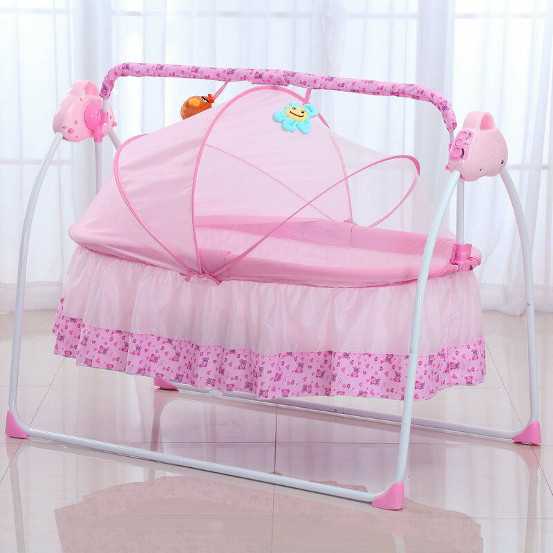 Big Space Electric Baby Crib Infant Rocker Baby Swing Bed