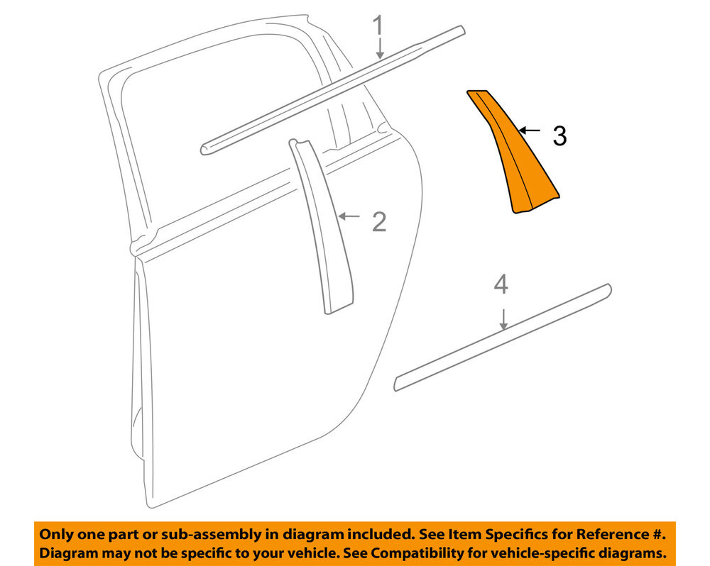 Details About Chevrolet Gm Oem 09 13 Impala Exterior Rear Lique Window Trim Left 25897631