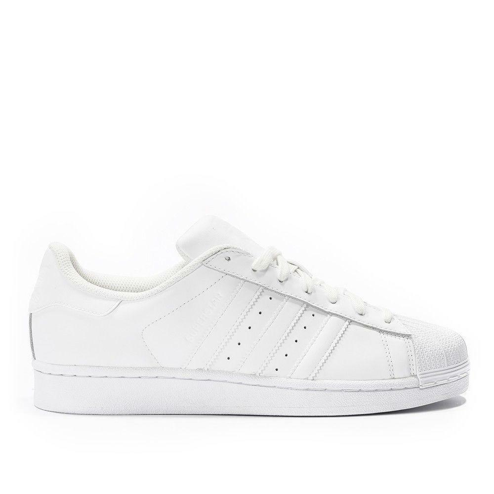 70c42d94b51a Details about Mens ADIDAS SUPERSTAR FOUNDATION White Leather Trainers B27136