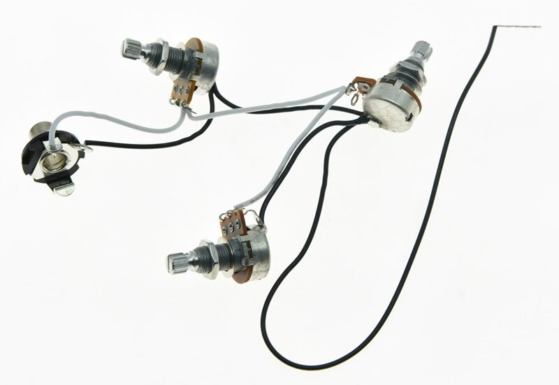 bass pre mini pots 2v1t 1 socket for jazz bass