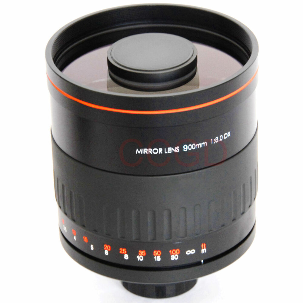 Details about 900mm f/8 HD Manual Focus Telephoto Mirror Lens for Canon EOS  Rebel T2i T3 T3i