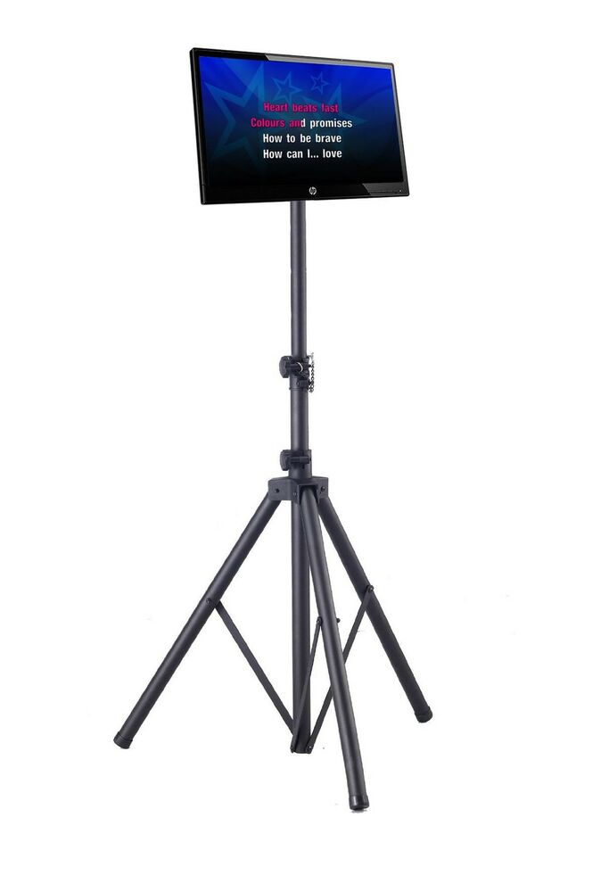 Portable Floor Stand Tripod Disco Dj Karaoke For Lcd Led