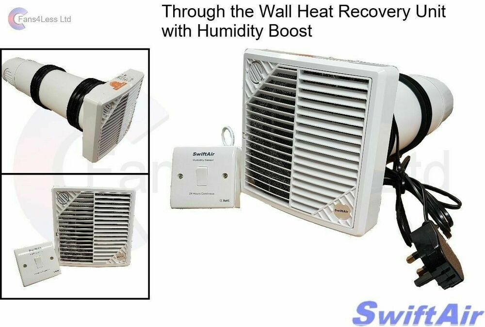 Hrw150h Wall Mounted 84 Heat Recovery Unit Supply Extract