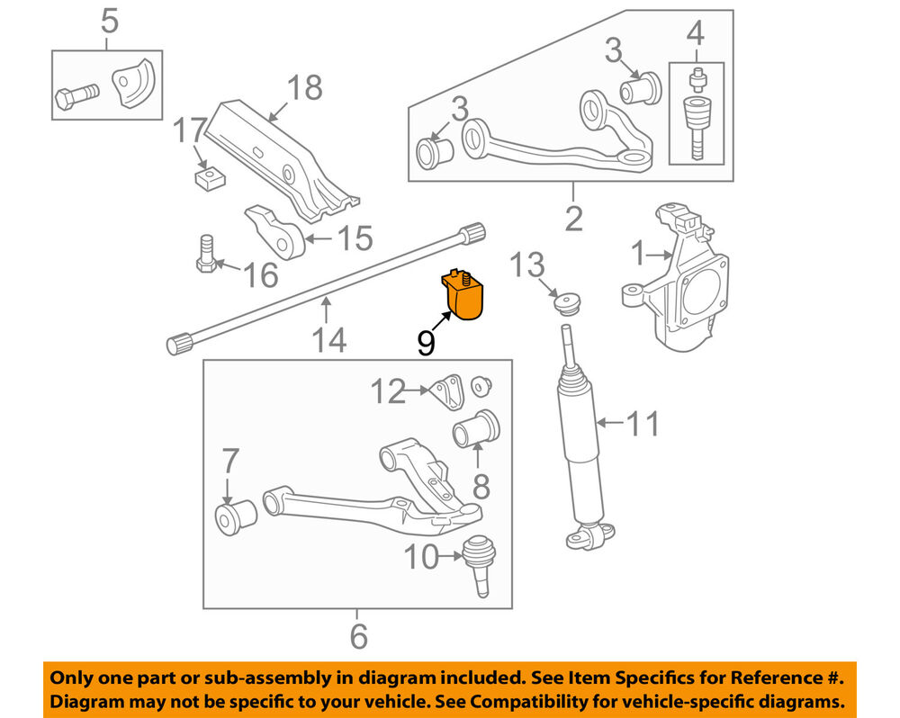 details about gm oem front suspension-lower control arm bumper 15835667