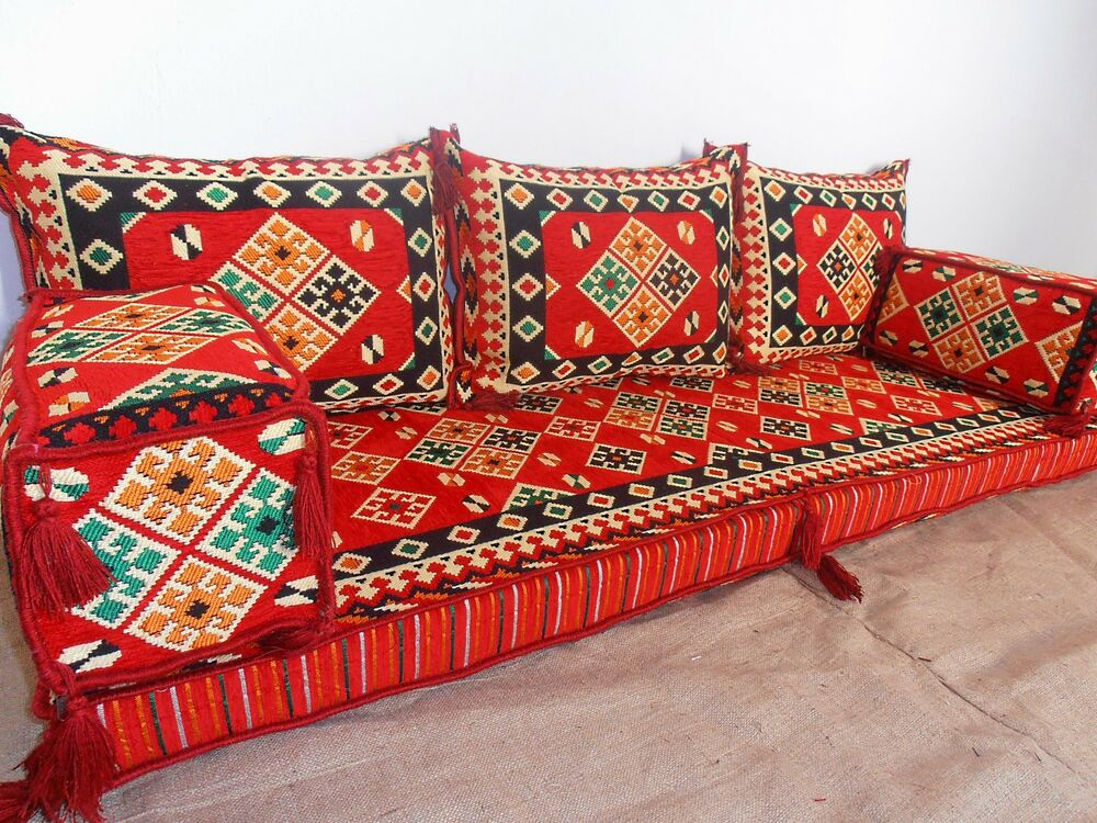 Arabic seating arabic cushion oriental seating floor sofa for Floor cushion seating ideas