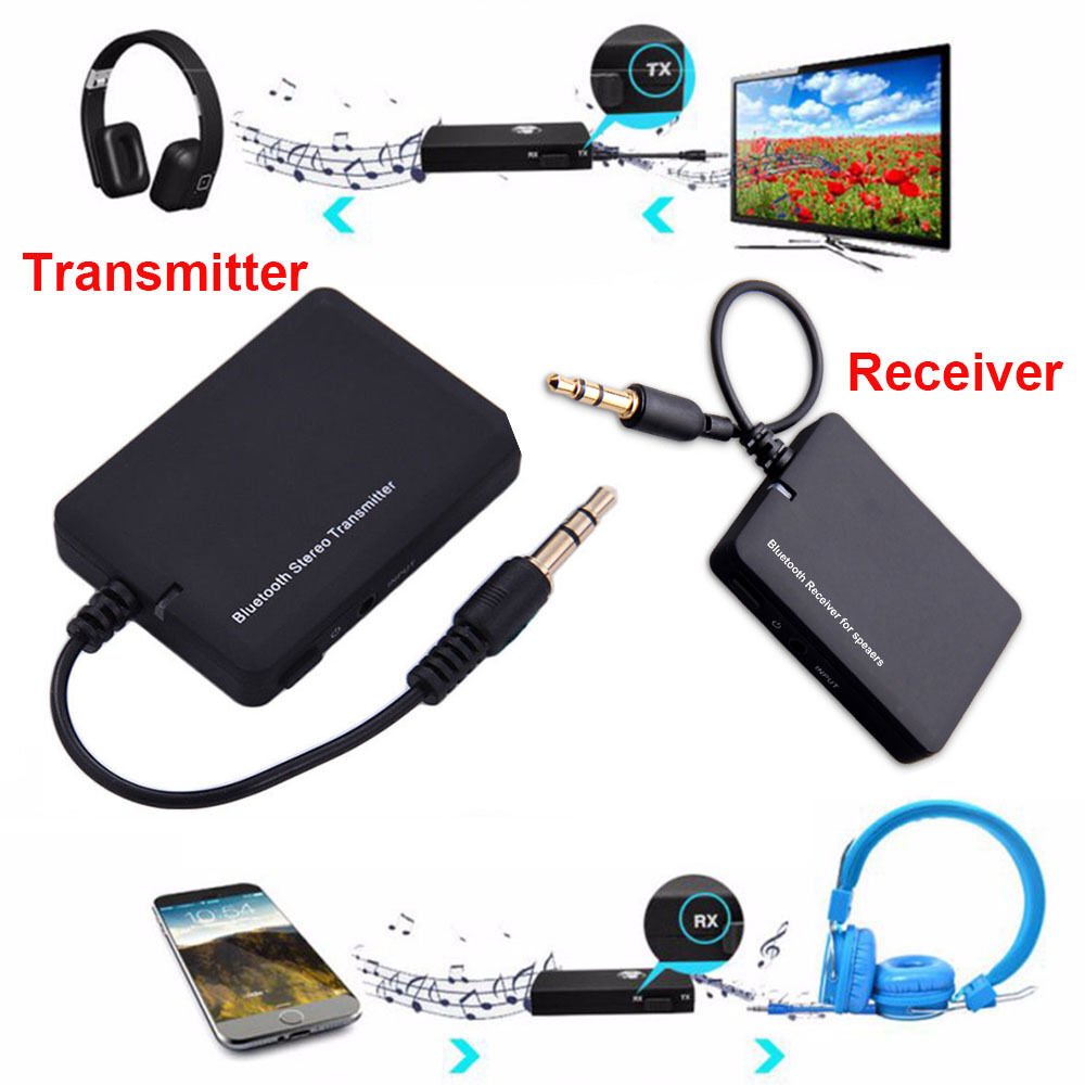 bluetooth wireless stereo audio music receiver transmitter. Black Bedroom Furniture Sets. Home Design Ideas