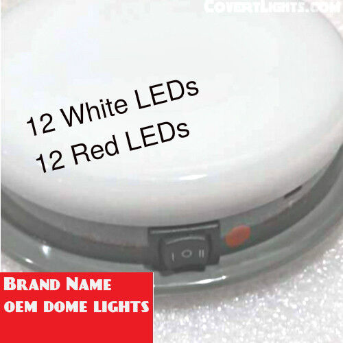 New Oem Dome Light Red White Led Dome Light Police Package Plug Connector Ebay