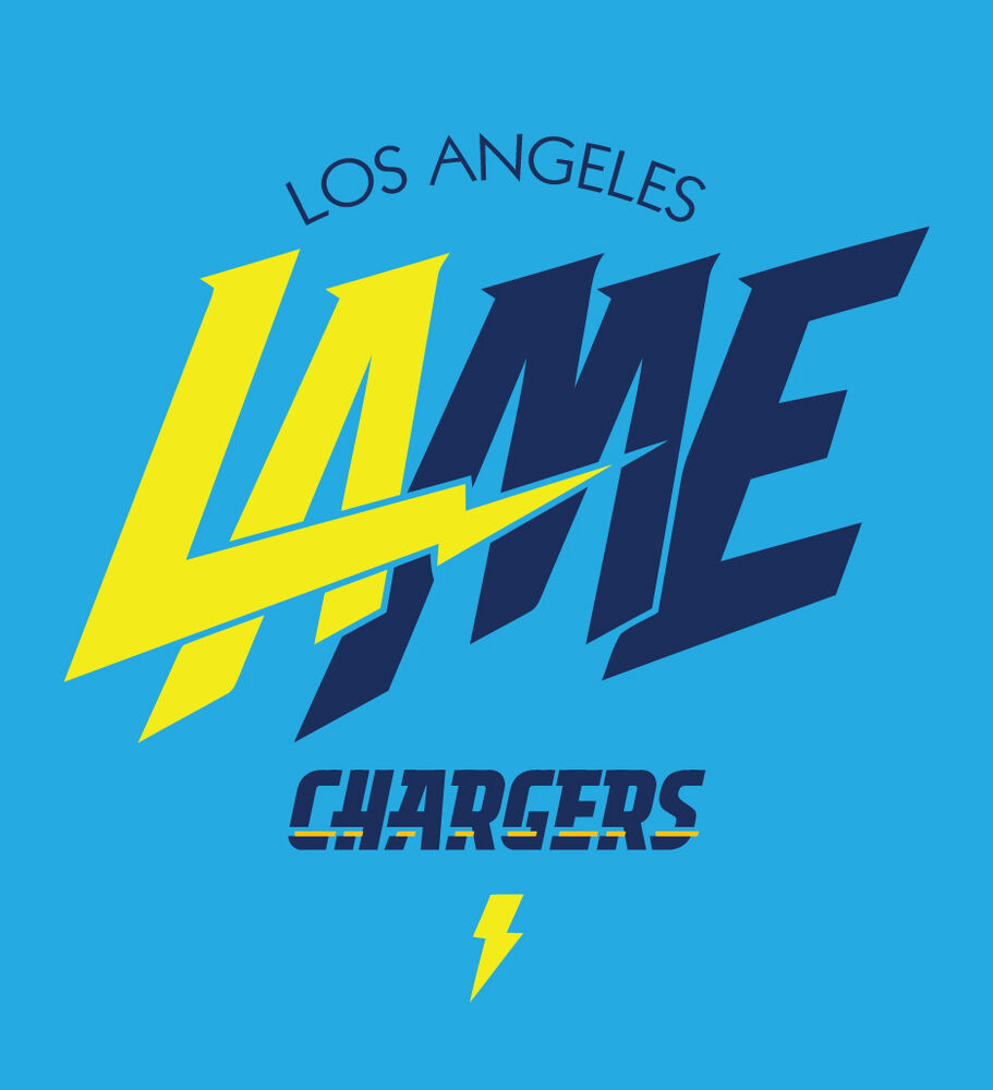 San Diego Chargers Bolt Logo: Los Angeles Chargers New Logo Shirt LAME San Diego Bolts