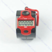 Mini 5 Digit LCD Electronic Digital Golf Finger Hand Ring Tally Counter 45 x32mm