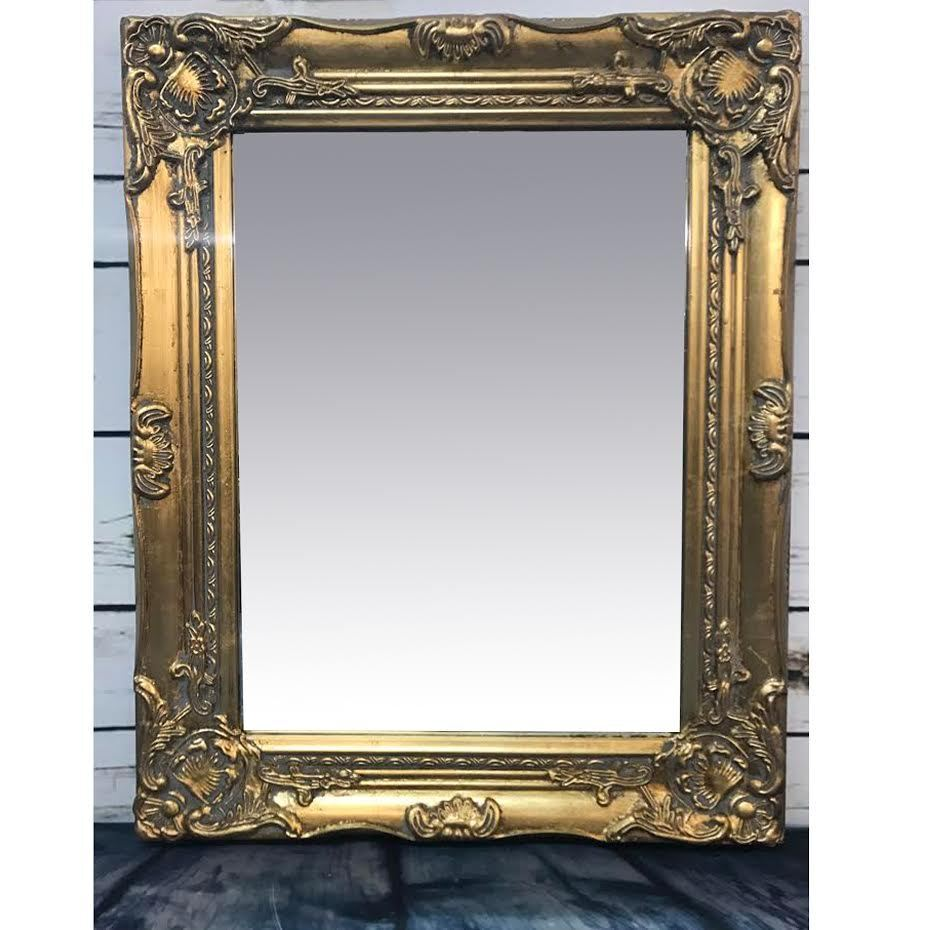 french style bathroom mirror baroque rococo gold frame antique ornate wall 18442