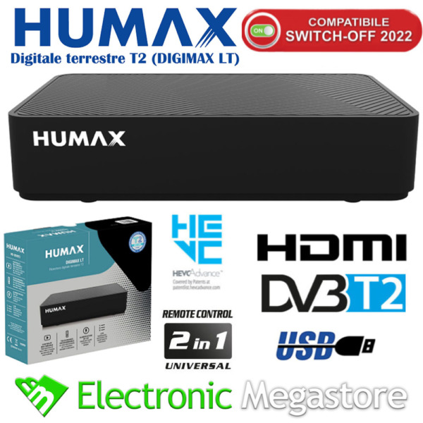 DECODER TIVUSAT COMBO HD DIGITALE TERRESTRE E SATELLITARE