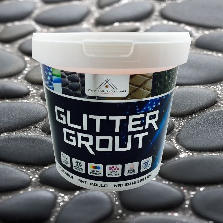 Black Glitter Grout For Bathroom Kitchen Mosaic Tiles